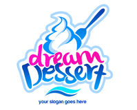 Logo de dessert Photo stock