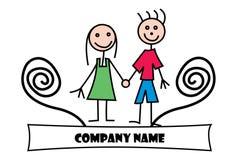 Logo de dessin d'enfant Image stock