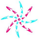 Logo de deux couleurs Image libre de droits