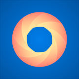 Logo de diaphragme, image de vecteur Photos libres de droits