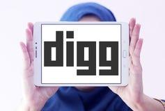 Logo de Digg Photos stock