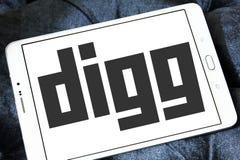 Logo de Digg Image libre de droits
