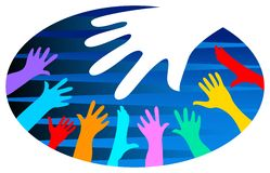 Logo de diversité illustration de vecteur