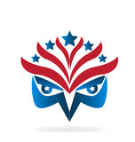 Logo de drapeau d'Eagle illustration stock