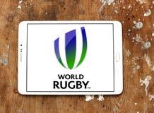 Logo de fédération de sport de rugby du monde Images stock