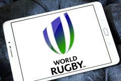 Logo de fédération de sport de rugby du monde Photo stock