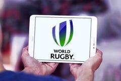 Logo de fédération de sport de rugby du monde Image stock