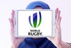 Logo de fédération de sport de rugby du monde Photographie stock