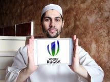 Logo de fédération de sport de rugby du monde Images libres de droits