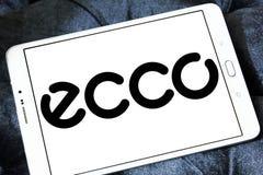 Logo de fabricant de chaussure d'ECCO Photos stock