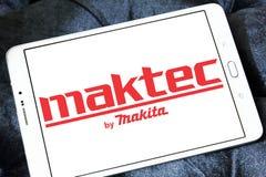 Logo de fabricant de machines-outils de Maktec Photos stock