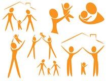 Logo de famille Photographie stock