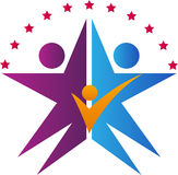 Logo de famille d'étoile Photo libre de droits