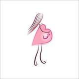 Logo de femme enceinte Images stock