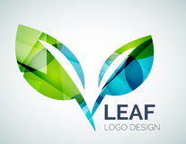 Logo de feuille Photographie stock libre de droits