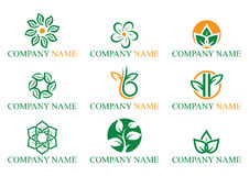 Logo de feuille Images stock