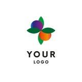 Logo de feuille avec des baies logotype Vecteur illustration libre de droits