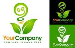 Logo de feuille d'Eco Image stock