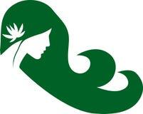 Logo de fille de vecteur Photographie stock libre de droits