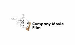 Logo de film de pousse de main Photographie stock