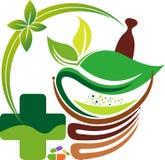 Logo de fines herbes vert illustration stock