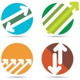Logo de flèche illustration de vecteur