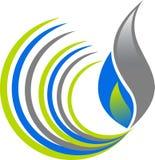 Logo de flamme de remous illustration de vecteur