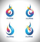 Logo de flamme du feu illustration libre de droits