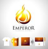 Logo de flamme, logo du feu, vecteur du feu illustration libre de droits