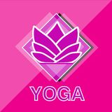 Logo de fleur de lotus de yoga Photo stock