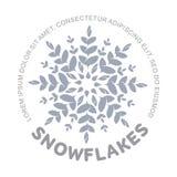 Logo de flocon de neige image libre de droits