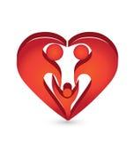 Logo de forme de famille de coeur illustration libre de droits