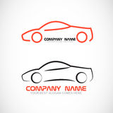 Logo de forme de voiture Photo stock