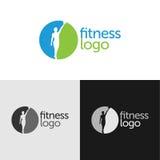 Logo de forme physique avec l'espace négatif Photos stock