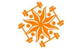 Logo de forme physique de Sun Photographie stock libre de droits