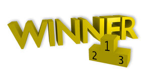 Logo de gagnant Images stock