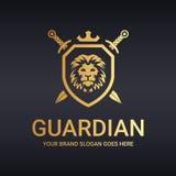 Logo de gardien Logotype de lion Photographie stock libre de droits