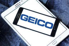 Logo de GEICO Insurance Company Photos stock