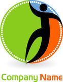 Logo de gens illustration stock