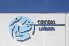 Logo de Geodis Wilson sur un mur Images libres de droits