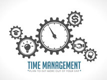 Logo de gestion du temps illustration libre de droits