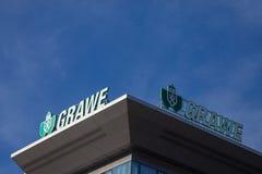 Logo de Grawe sur leur bureau principal pour la Serbie Grawe, ou Grazer Wechselseitige est un de la plus grande compagnie d'assur image stock