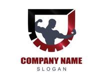 Logo 5 de gymnase Photographie stock