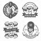 Logo de gymnase de vintage Photographie stock libre de droits
