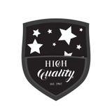 Logo de haute qualité d'emblème de bouclier Photos libres de droits