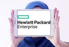 Logo de Hewlett Packard Enterprise Company Images stock