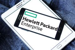 Logo de Hewlett Packard Enterprise Company Image libre de droits