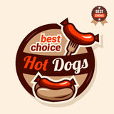 Logo de hot-dog illustration stock