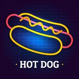 Logo de hot-dog, style plat illustration stock