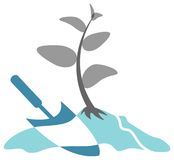 Logo de jardinage Photo libre de droits